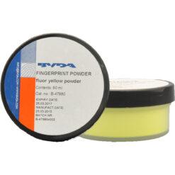Fluoreszierendes Pulver gelb